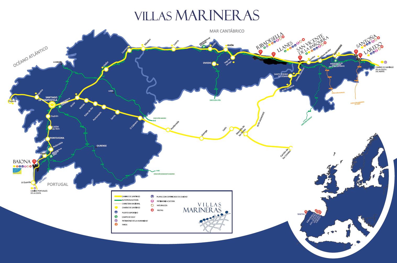 Mapa Villas Marineras